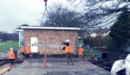Prudhoe sports pavilion work